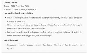 dental resume 4 300x189 - How to Write a Professional Dental Resume with Samples